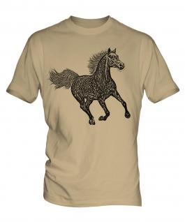 Galloping Horse Sketch Mens T-Shirt