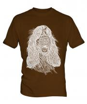 English Cocker Spaniel Sketch Mens T-Shirt