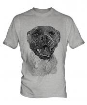 American Bulldog Sketch Mens T-Shirt