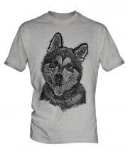 Alaskan Malamute Sketch Mens T-Shirt