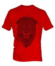 Lion Sketch Mens T-Shirt
