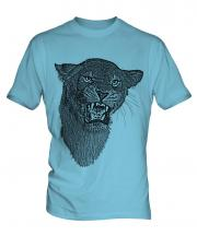 Lioness Roaring Sketch Mens T-Shirt