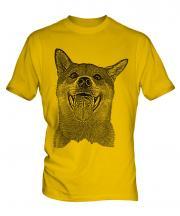 Shiba Inu Sketch Mens T-Shirt