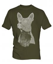 Basenji Sketch Mens T-Shirt