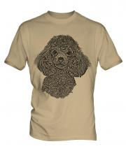 Poodle Sketch Mens T-Shirt
