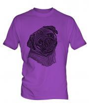 Pug Sketch Mens T-Shirt