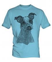 Jack Russell Terrier Sketch Mens T-Shirt