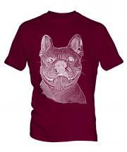 French Bulldog Sketch Mens T-Shirt