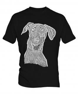 Doberman Pinscher Sketch Mens T-Shirt