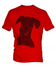 Doberman Pinscher Sketch Mens T-Shirt