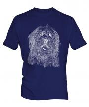 Old English Sheepdog Sketch Mens T-Shirt