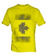 Canadian Flag Faded Print Mens T-Shirt