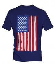 Stars And Stripes Painted Flag Mens T-Shirt