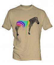 Rainbow Painted Zebra Mens T-Shirt