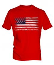 Stars And Stripes Distressed Flag Mens T-Shirt