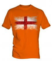 England St George Distressed Flag Mens T-Shirt