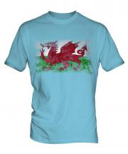 Wales Distressed Flag Mens T-Shirt