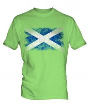 Scotland Distressed Flag Mens T-Shirt