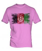 Afghanistan Distressed Flag Mens T-Shirt