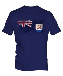 Anguilla Distressed Flag Mens T-Shirt