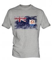 Anguilla Distressed Flag Mens T-Shirt