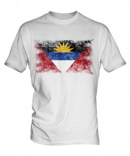 Antigua And Barbuda Distressed Flag Mens T-Shirt