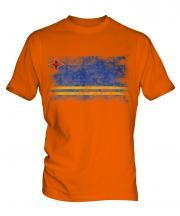 Aruba Distressed Flag Mens T-Shirt
