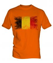 Belgium Distressed Flag Mens T-Shirt