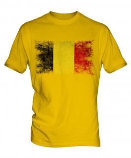 Belgium Distressed Flag Mens T-Shirt