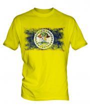 Belize Distressed Flag Mens T-Shirt