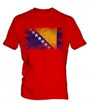 Bosnia And Herzegovina Distressed Flag Mens T-Shirt