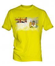 British Antartic Territory Distressed Flag Mens T-Shirt