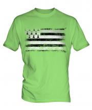 Brittany Distressed Flag Mens T-Shirt