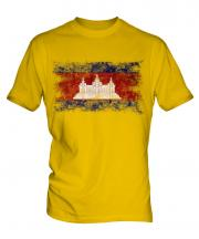 Cambodia Distressed Flag Mens T-Shirt