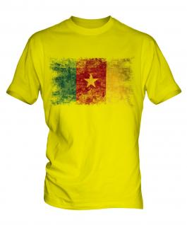 Cameroon Distressed Flag Mens T-Shirt