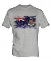 Cayman Islands Distressed Flag Mens T-Shirt