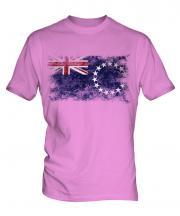 Cook Islands Distressed Flag Mens T-Shirt