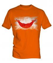 Easter Island Distressed Flag Mens T-Shirt
