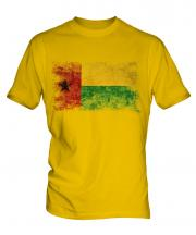 Guinea Bissau Distressed Flag Mens T-Shirt