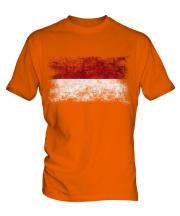 Indonesia Distressed Flag Mens T-Shirt