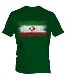 Iran Distressed Flag Mens T-Shirt
