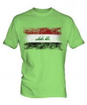 Iraq Distressed Flag Mens T-Shirt