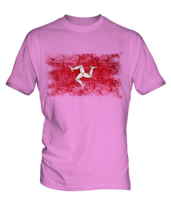 Isle Of Man Distressed Flag Mens T-Shirt