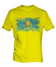 Kazakhstan Distressed Flag Mens T-Shirt
