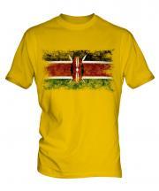 Kenya Distressed Flag Mens T-Shirt