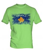 Kosovo Distressed Flag Mens T-Shirt