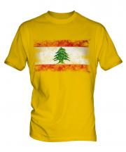 Lebanon Distressed Flag Mens T-Shirt