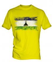 Lesotho Distressed Flag Mens T-Shirt