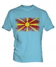 Macedonia Distressed Flag Mens T-Shirt