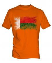 Madagascar Distressed Flag Mens T-Shirt